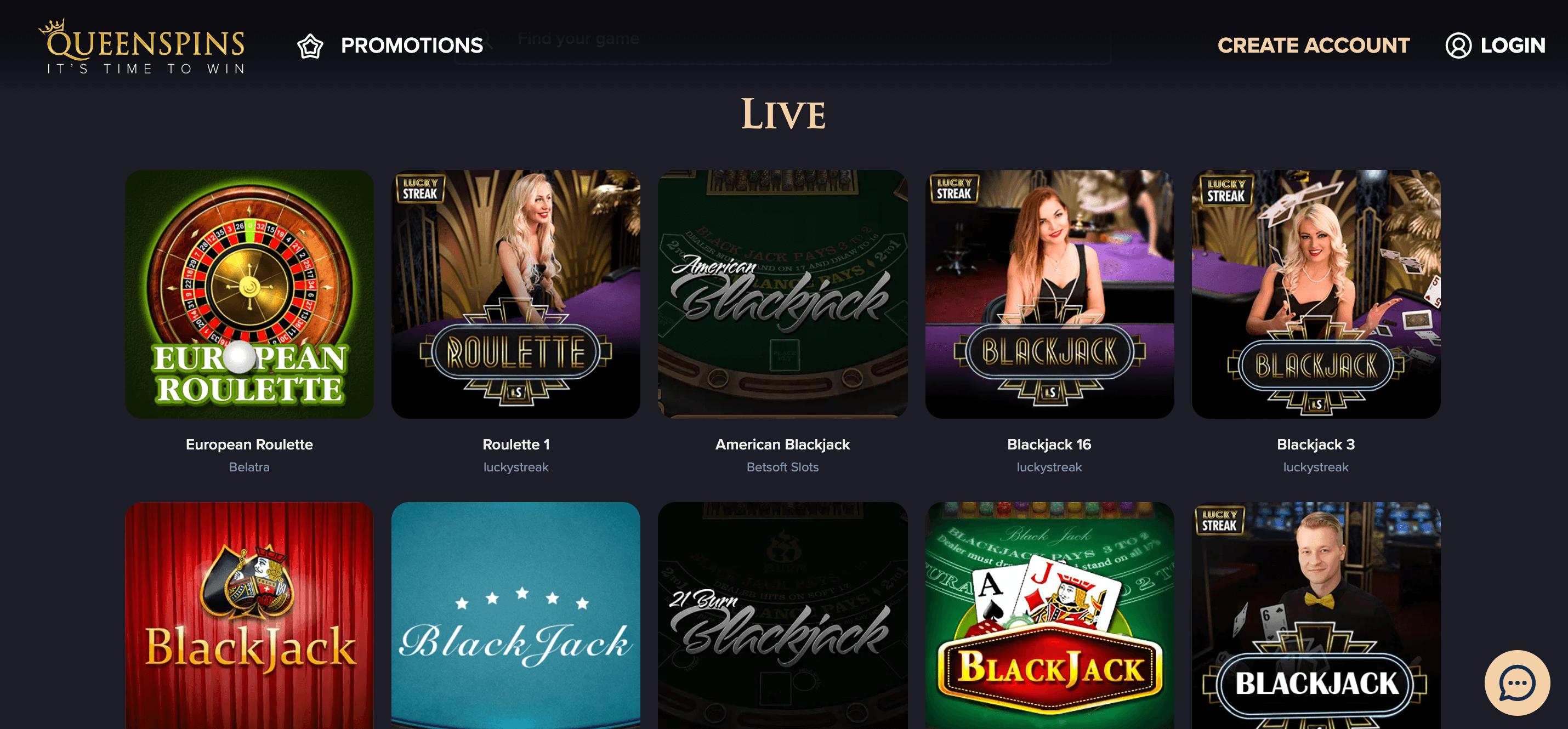 Queenspins Slot Live